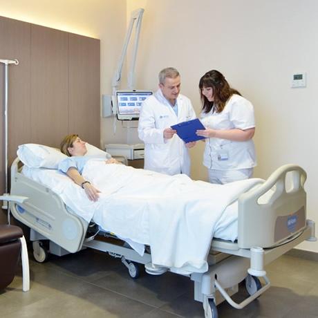 Camas del hospital IMED Valencia