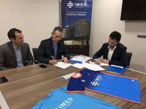 Firma acuerdo ACDSAB - IMED Valencia