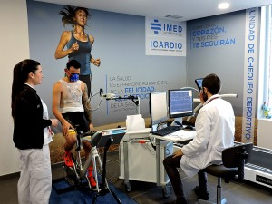 Héctor Barberá antes de empezar la prueba de esfuerzo